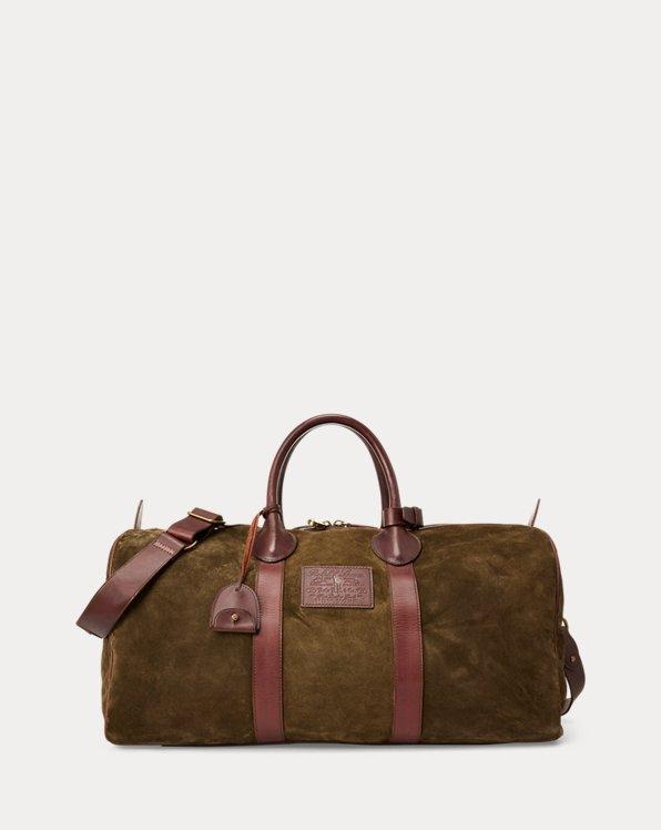 Traditionelle Wildleder-Reisetasche