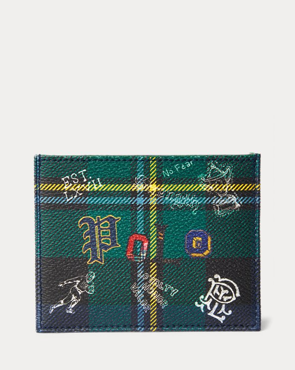 Porte-cartes tartan en simili cuir