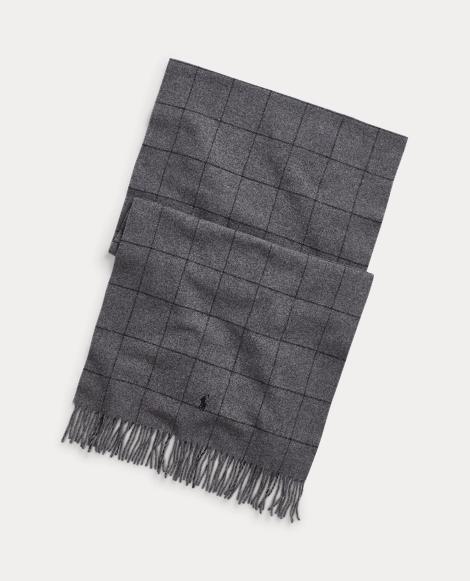 Sciarpa in cashmere e lana finestrati