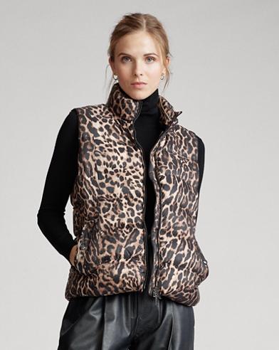 Leopard-Print Down Gilet
