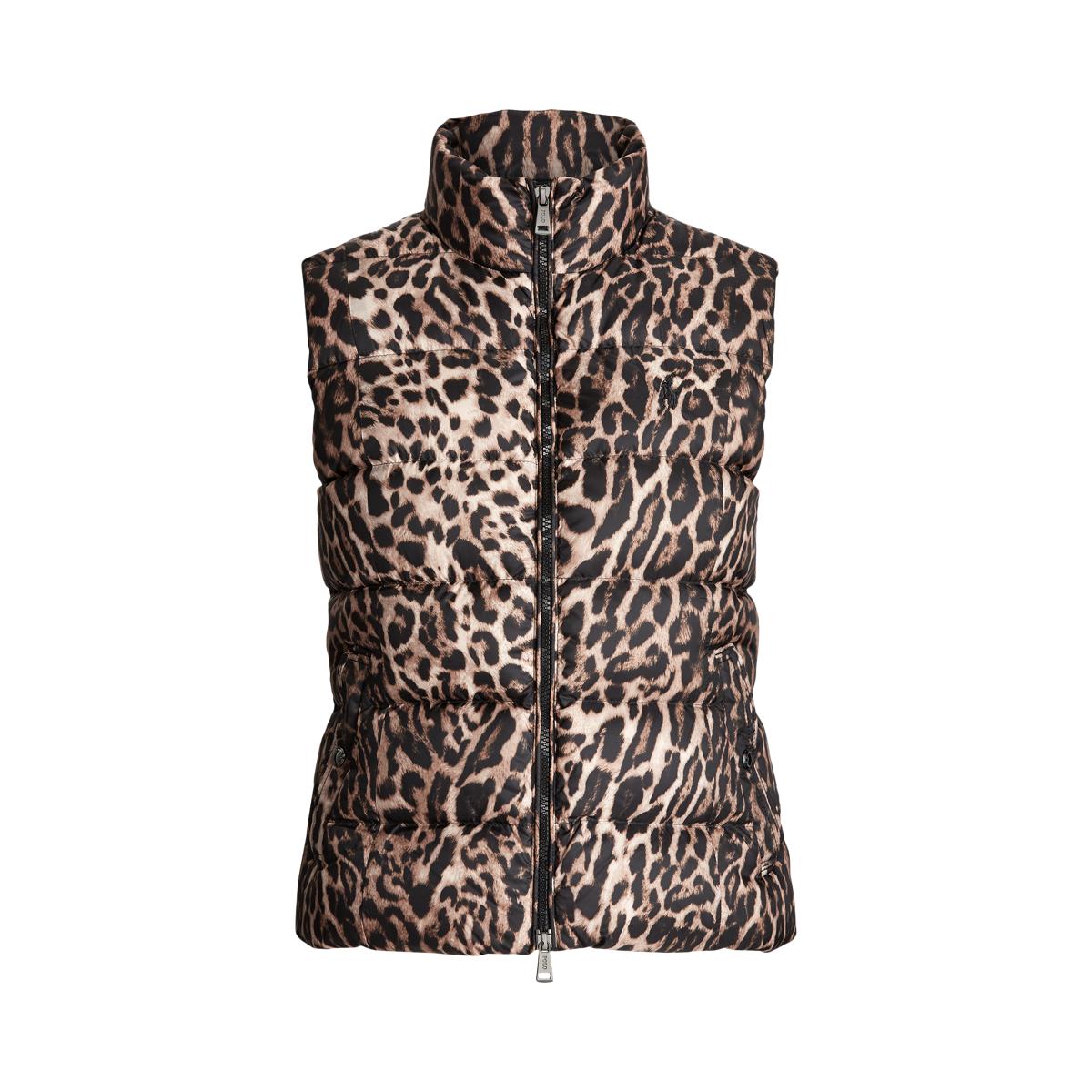 Leopard Print Down Vest