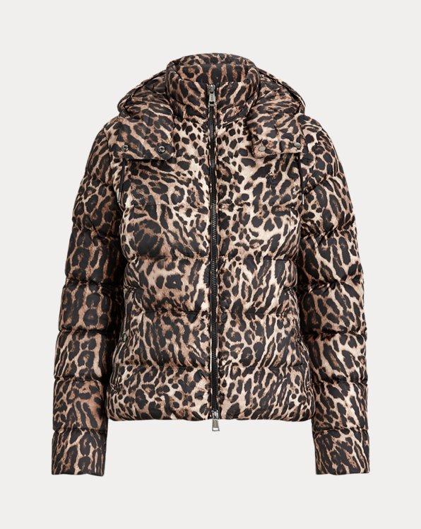 Leopard-Print Down Jacket