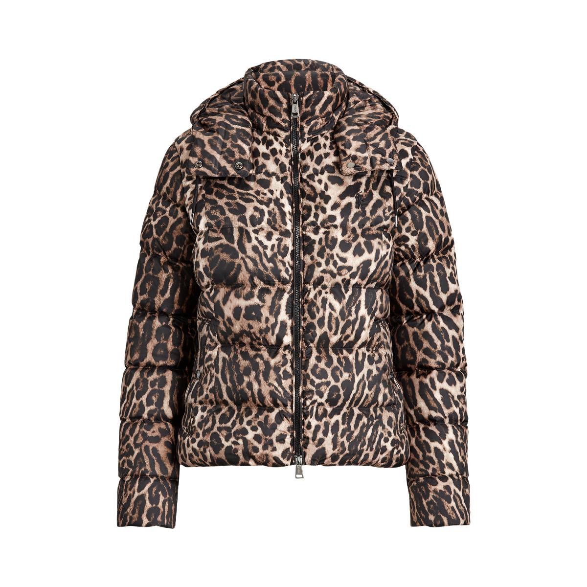 Leopard Print Down Jacket