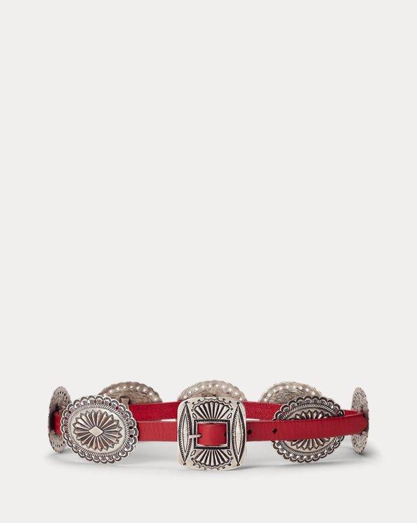 Engraved-Concho Belt