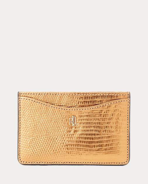Slim Leather Card Case by Ralph Lauren