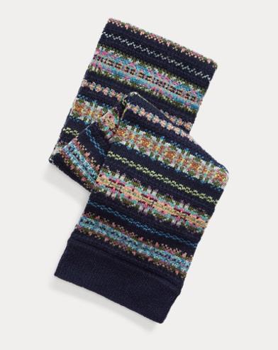 Intarsia Wool-Blend Scarf
