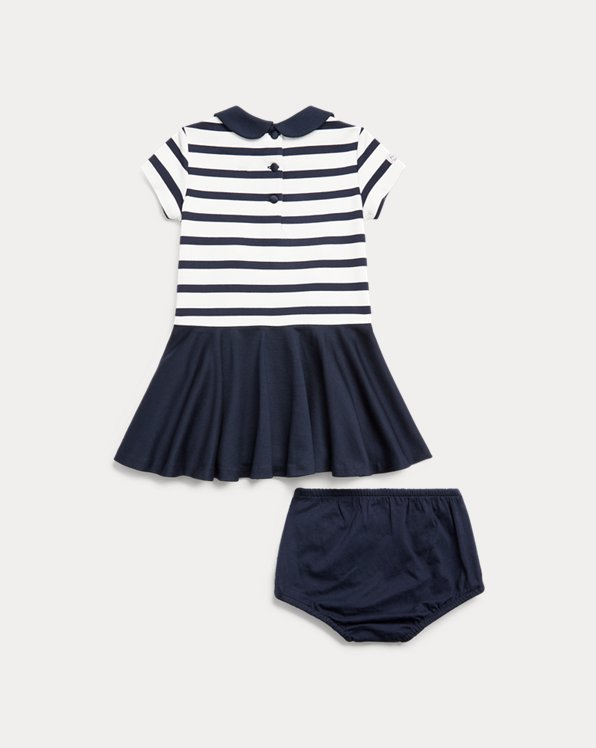 Two-Tone Ponte Dress & Bloomer