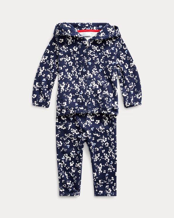 Floral Hoodie & Trouser Set