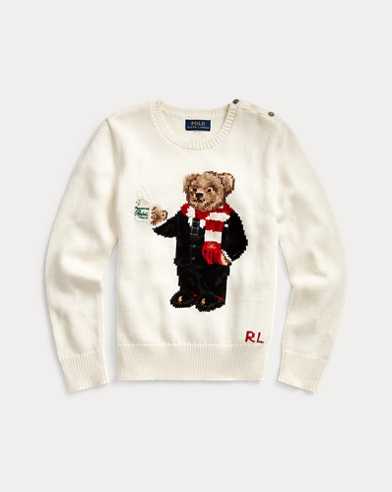 Polo Bear Cotton-Blend Jumper