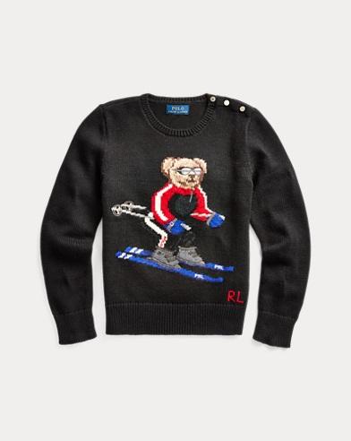 Pullover aus Baumwollmischung mit Ski Bear
