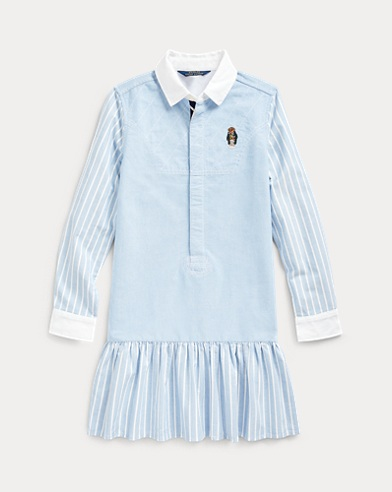 Bear Striped Cotton Shirtdress