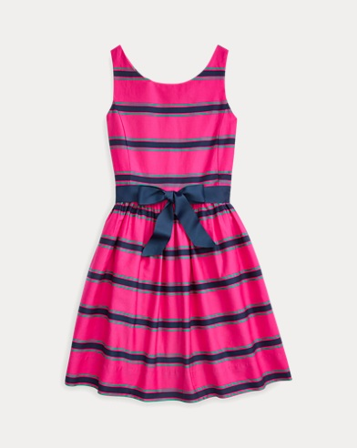 Striped Cotton Sateen Dress