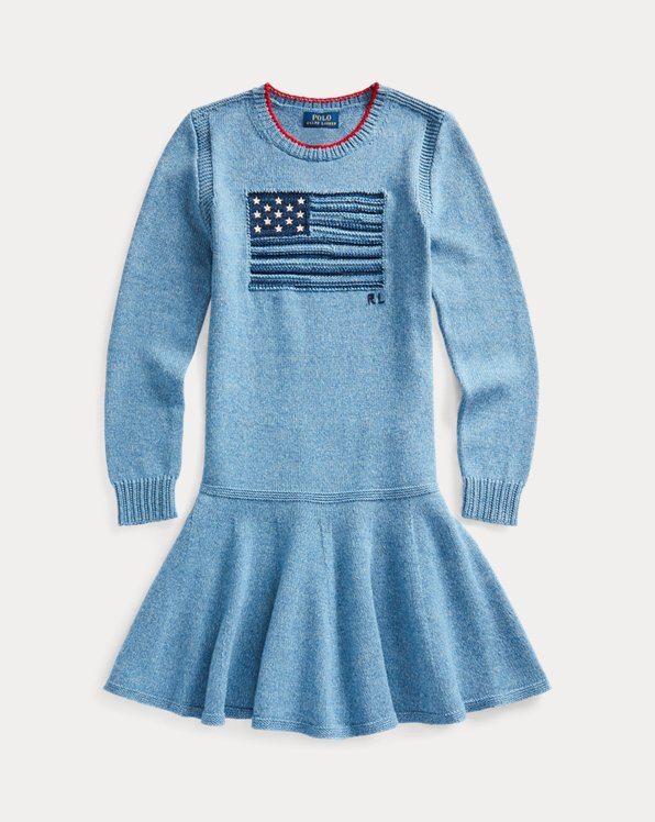Intarsia-Flag Cotton Dress