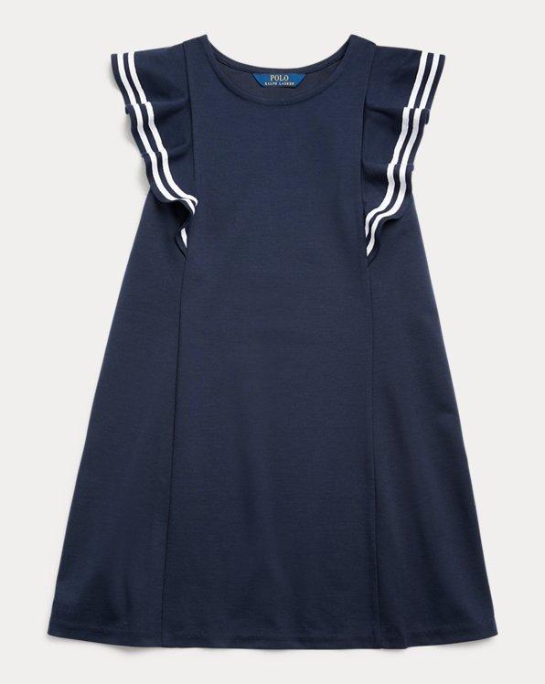 Ruffled Stretch Ponte Dress