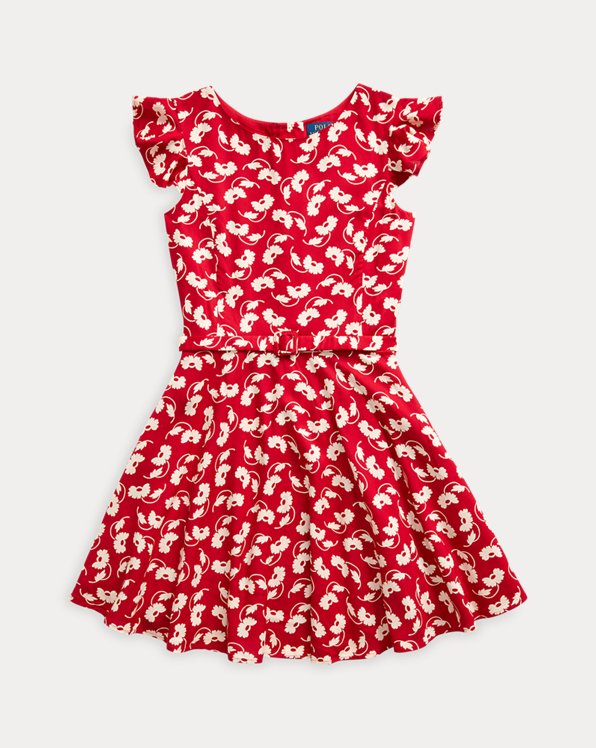 Floral Belted Woven Dress