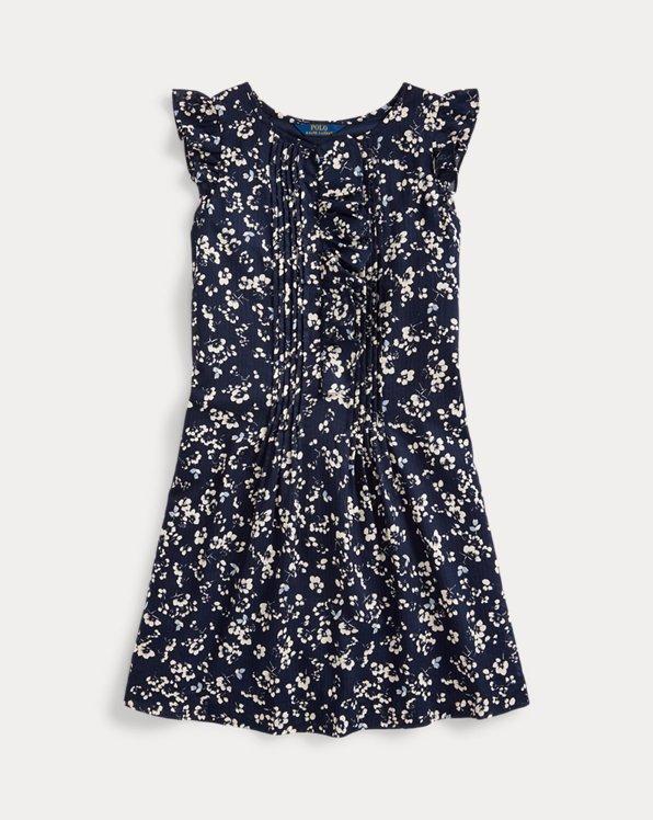 Floral Cotton Dobby Dress