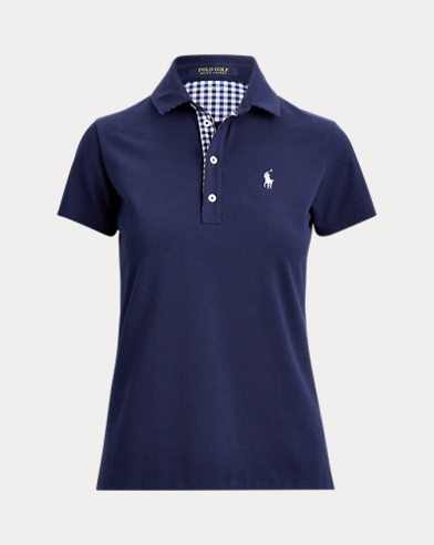 Tailored Fit Gingham Golf Polo