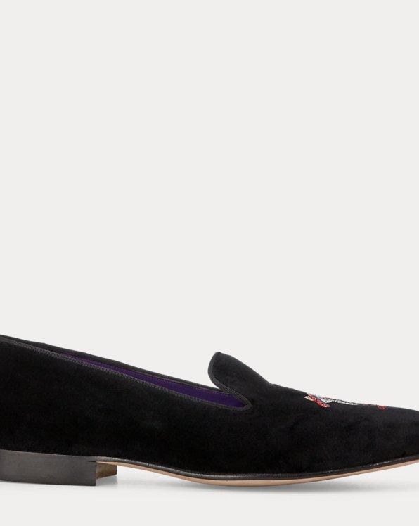 Alonzo Ski Bear Velvet Slipper