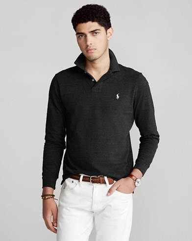 Polo de piqué Slim Fit de manga larga