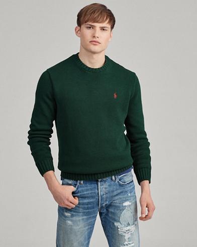 Jersey de algodón decuello redondo