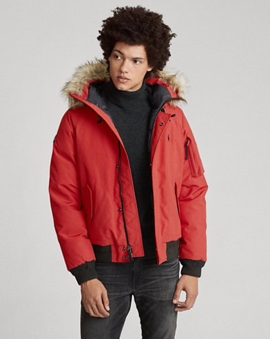 Faux-Fur-Trim Down Jacket