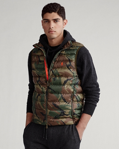 Camo Packable Down Gilet