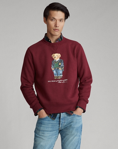Sweat Polo Bear preppy en molleton