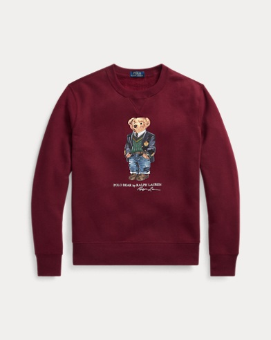 Fleece-Sweatshirt mit Preppy Bear