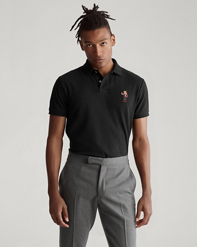 Custom-Slim-Fit Polo mit Bear