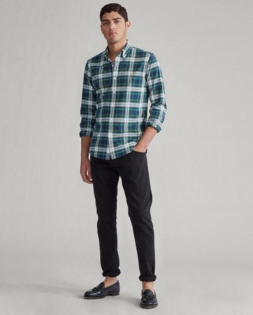 cheaper d7293 9a50c Custom Fit Plaid Oxford Shirt