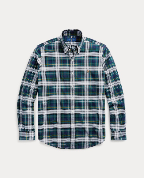 Custom Fit Plaid Oxford Shirt
