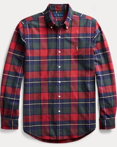Camicia Oxford a quadri Custom-Fit