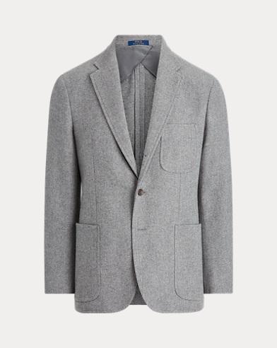 Wool-Blend-Tweed Suit Jacket
