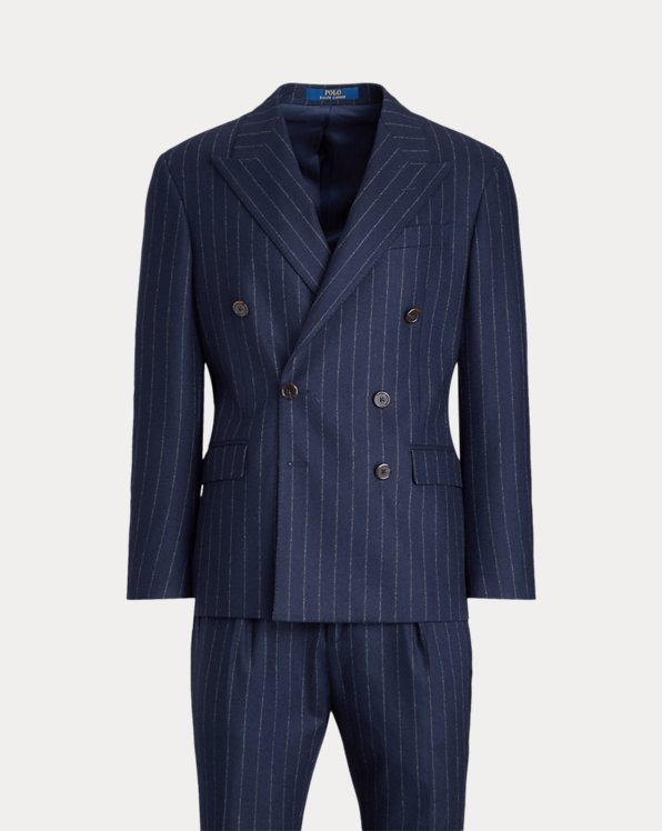Polo Striped Flannel Suit