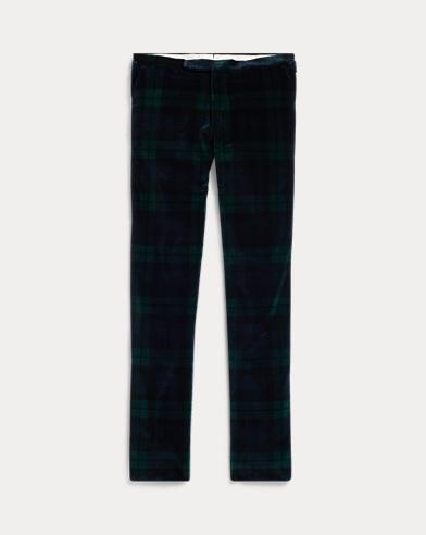 Pantalones de terciopelo con diseño de tartán Polo