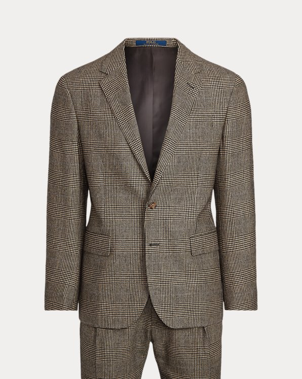 Karierter Polo-Anzug aus Wolltwill