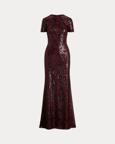 Sequined Evening Gown