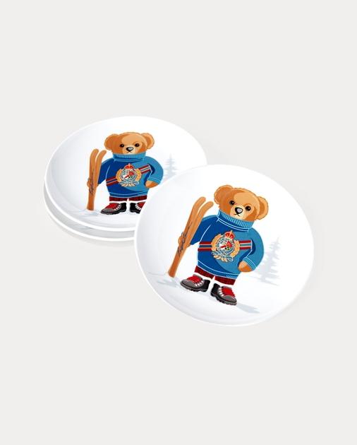 Haven Ski Bear Dessert Plates