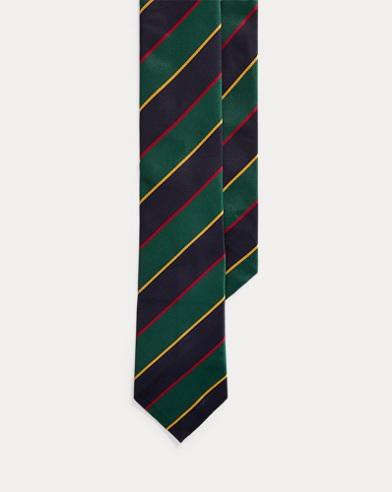 Regimental-Stripe Narrow Tie
