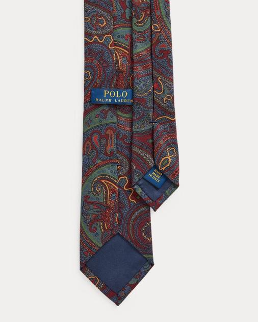 Polo Ralph Lauren Cravatta sottile in seta motivo cashmere 2