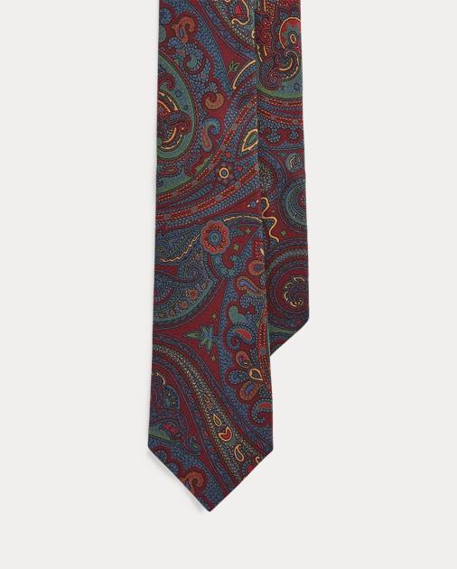 Polo Ralph Lauren Cravatta sottile in seta motivo cashmere 1