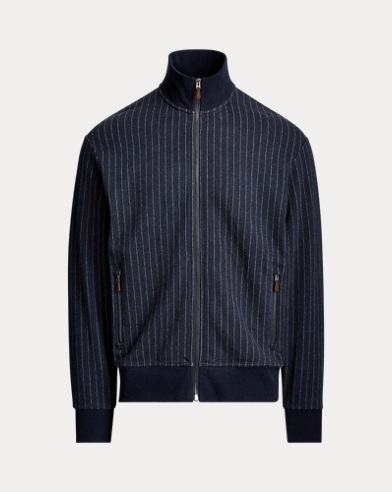 Chalk-Stripe Track Jacket