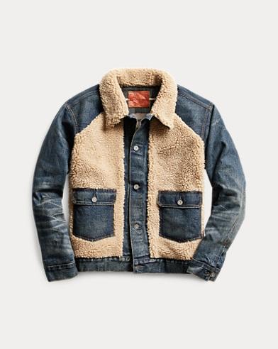 Fleece-Paneled Denim Jacket