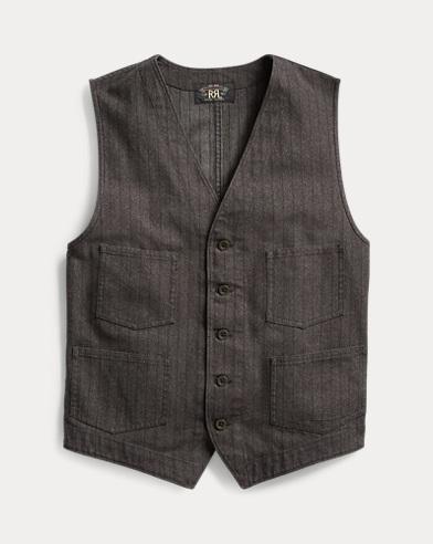 Slim Fit Jaspé Twill Vest