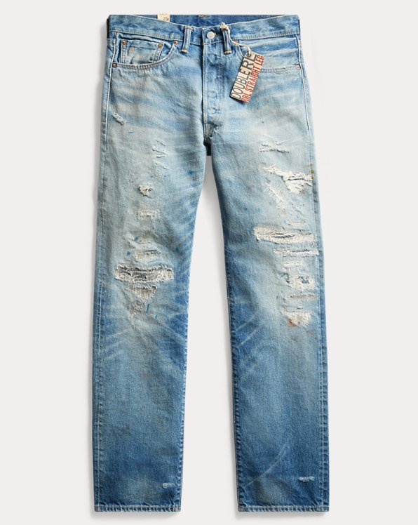 Selvedge-Jeans im Straight Fit