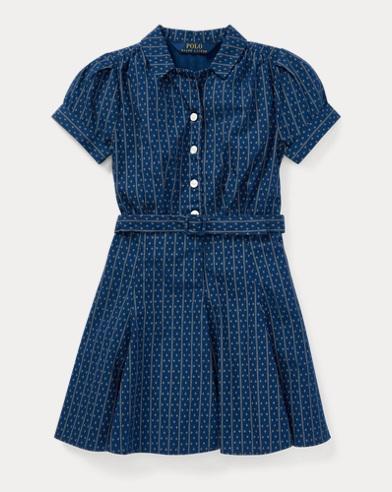 Belted Cotton Poplin Dress