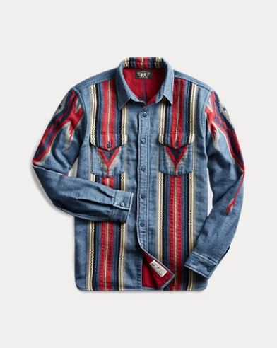 Indigo Jacquard Overshirt