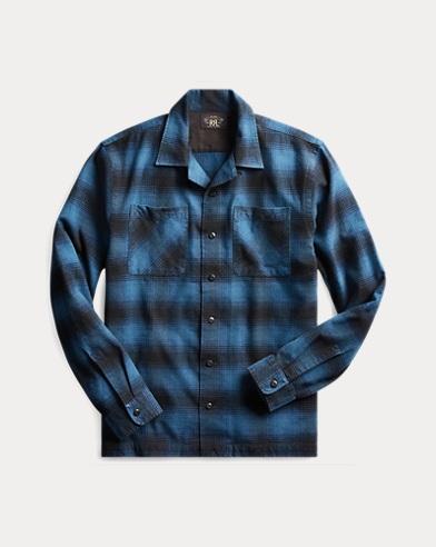Plaid Cotton-Wool Camp Shirt