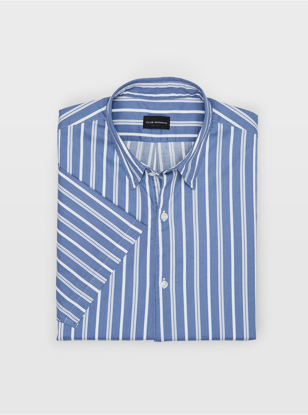 Short-Sleeve Striped Popover