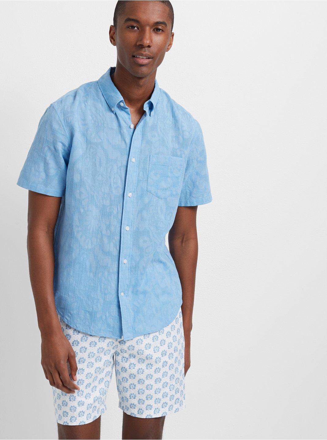 Slim Floral Jacquard Shirt